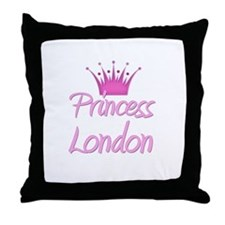 Princess London Throw Pillow