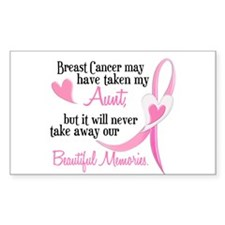 Beautiful Memories 1 (Aunt BC) Rectangle Decal
