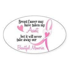 Beautiful Memories 1 (Aunt BC) Oval Decal