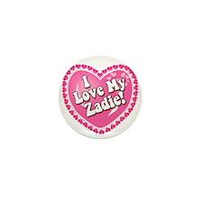 I Love My Zadie Mini Button (10 pack)