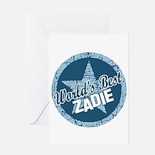 World's Best Zadie Greeting Card