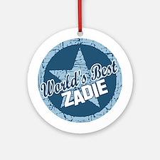 World's Best Zadie Ornament (Round)