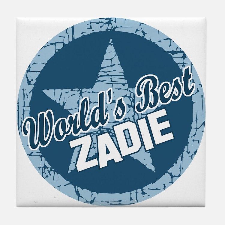 World's Best Zadie Tile Coaster