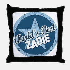 World's Best Zadie Throw Pillow