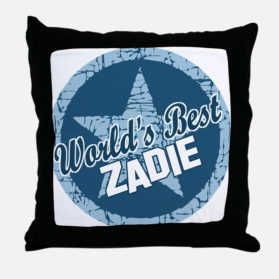 World's Best Zadie Throw Pillow