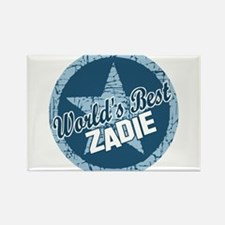 World's Best Zadie Rectangle Magnet