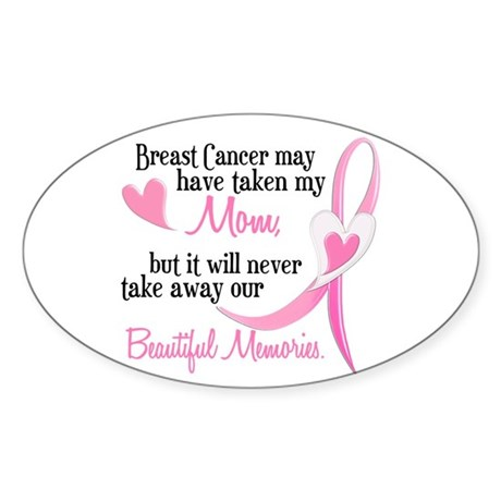 Beautiful Memories 1 (Mom BC) Oval Sticker