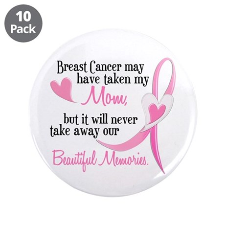 "Beautiful Memories 1 (Mom BC) 3.5"" Button (10 pack"