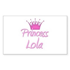 Princess Lola Rectangle Decal