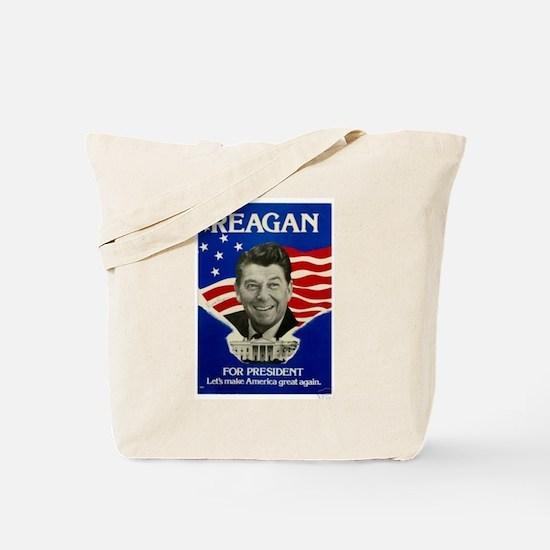 Cute Ronald reagan Tote Bag