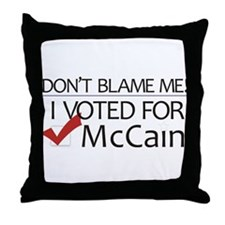 Don't Blame Me Throw Pillow