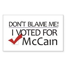 Don't Blame Me Rectangle Decal