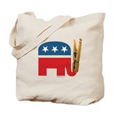 Clothespin Elephant Tote Bag