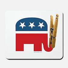 Clothespin Elephant Mousepad
