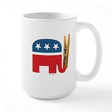 Clothespin Elephant Mug