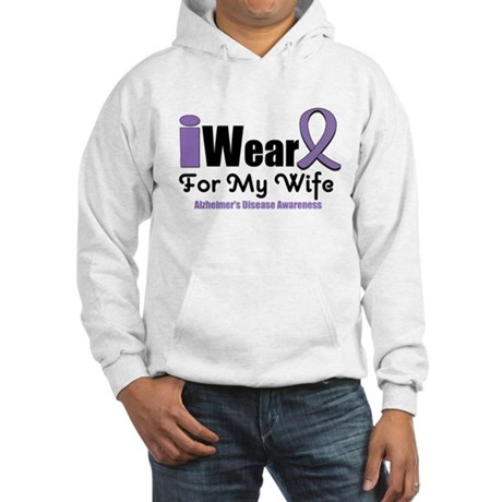 I Wear Purple (Wife) Hooded Sweatshirt
