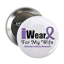 """I Wear Purple (Wife) 2.25"""" Button (10 pack)"""