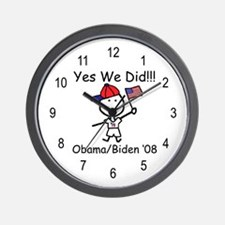 Obama - Yes We Did! Wall Clock