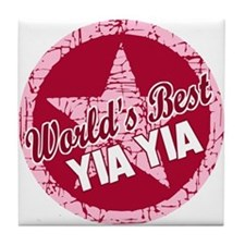 Worlds Best Yia Yia Tile Coaster