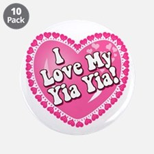 """I Love My Yia Yia 3.5"""" Button (10 pack)"""