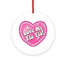 I Love My Yia Yia Ornament (Round)