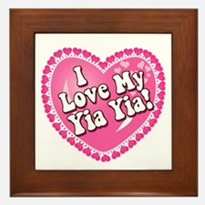 I Love My Yia Yia Framed Tile