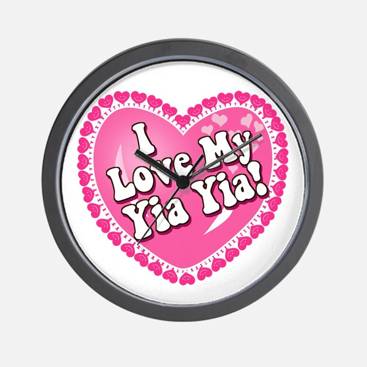 I Love My Yia Yia Wall Clock