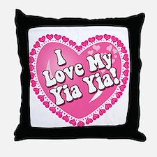 I Love My Yia Yia Throw Pillow