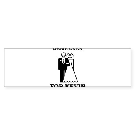 Game over for Kevin Bumper Sticker