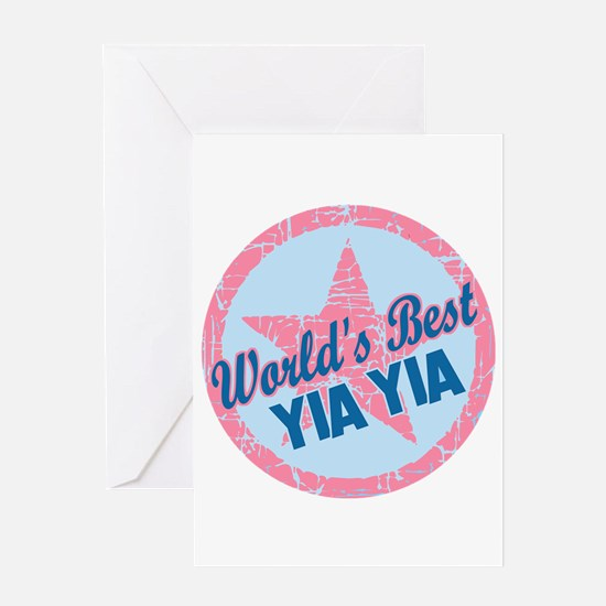Worlds Best Yia Yia Greeting Card