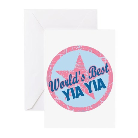Worlds Best Yia Yia Greeting Cards (Pk of 20)