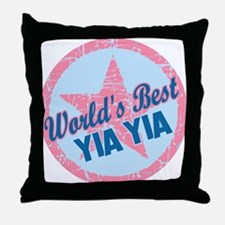 Worlds Best Yia Yia Throw Pillow