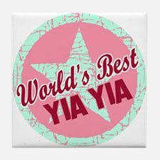 The World's Best Yia Yia Tile Coaster