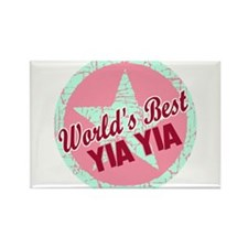 The World's Best Yia Yia Rectangle Magnet (100 pac