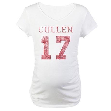 Vintage Cullen 17 Varsity Maternity T-Shirt