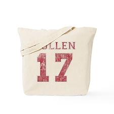Vintage Cullen 17 Varsity Tote Bag