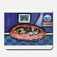 Australian shepherd blue bed Mousepad