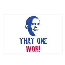OBAMA - THAT ONE WON! Postcards (Package of 8)