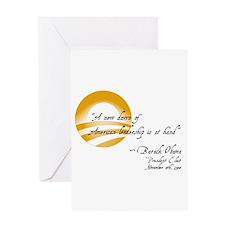 Obama - A New Dawn Greeting Card