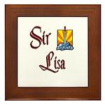 Sir Lisa Framed Tile