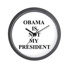 Obama Not My President Wall Clock