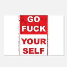 Cute Go fuck yourself Postcards (Package of 8)