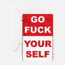 Funny Go fuck yourself Greeting Cards (Pk of 20)