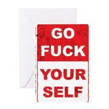 fuckyourselfgrunge copy Greeting Cards