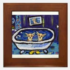 CHIHUAHUA bath Framed Tile