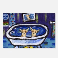 CHIHUAHUA bath Postcards (Package of 8)