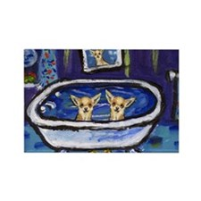 CHIHUAHUA bath Rectangle Magnet (10 pack)