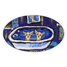CHIHUAHUA bath Oval Decal