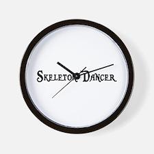 Skeleton Dancer Wall Clock