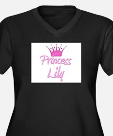 Princess Lily Women's Plus Size V-Neck Dark T-Shir
